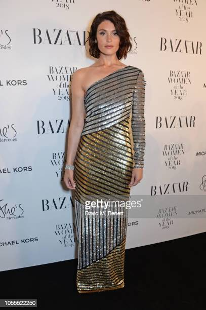 Gemma Arterton attends the Harper's Bazaar Women Of The Year Awards 2018 in partnership with Michael Kors and MercedesBenz at Claridge's Hotel on...