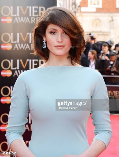 Gemma Arterton attends the Laurence Olivier Awards at The Royal Opera House on April 13 2014 in London England