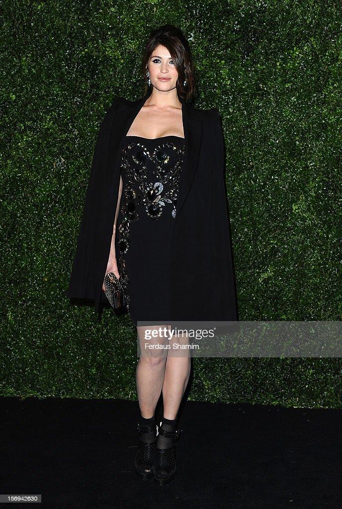 Gemma Arterton attends the London Evening Standard Theatre Awards on November 25, 2012 in London, England.