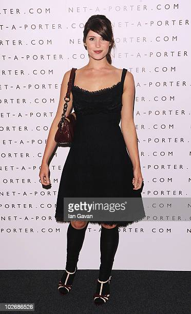 Gemma Arterton attends the NetAPorter 10 Birthday Party at Westfield on July 7 2010 in London England