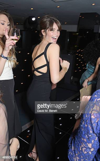 Gemma Arterton attends The Olivier Awards after party at The Royal Opera House on April 12 2015 in London England