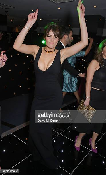 Gemma Arterton attends The Olivier Awards after party at The Royal Opera House on April 12, 2015 in London, England.