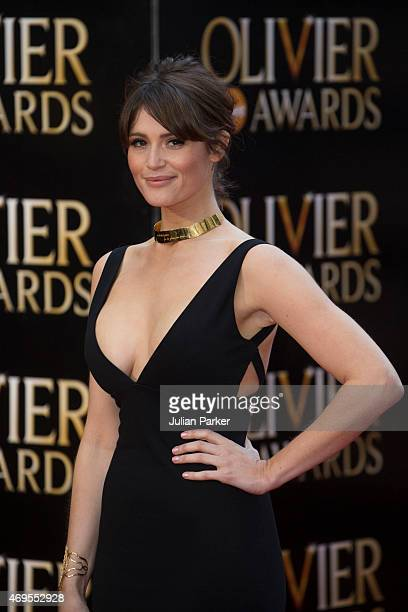 Gemma Arterton attends The Olivier Awards at The Royal Opera House on April 12, 2015 in London, England.