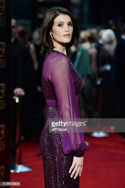 Gemma Arterton attends The Olivier Awards with Mastercard at The Royal Opera House on April 3 2016 in London England
