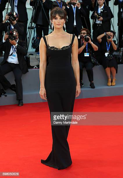 Gemma Arterton attends the opening ceremony and premiere of 'La La Land' during the 73rd Venice Film Festival at Sala Grande on August 31 2016 in...