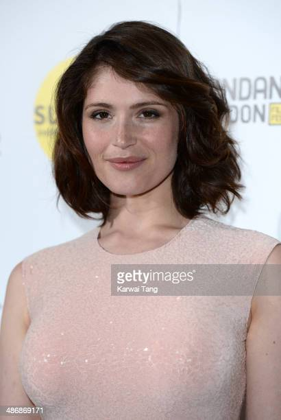 Gemma Arterton attends the premiere of The Voices at Sundance London held at Cineworld 02 Arena on April 26 2014 in London England She is wearing a...