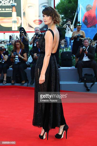 Gemma Arterton attends the premiere of 'The Young Pope' during the 73rd Venice Film Festival at Palazzo del Casino on September 3 2016 in Venice Italy