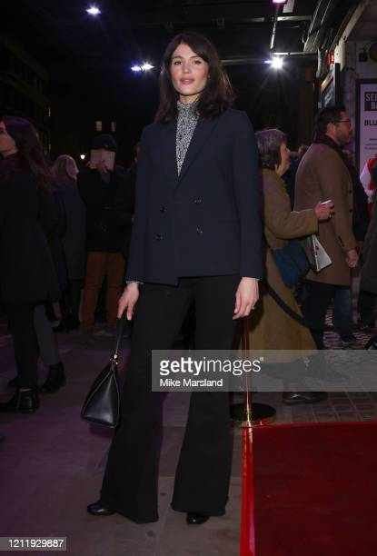 Gemma Arterton attends the press night of On Blueberry Hill at Trafalgar Studios on March 11 2020 in London England