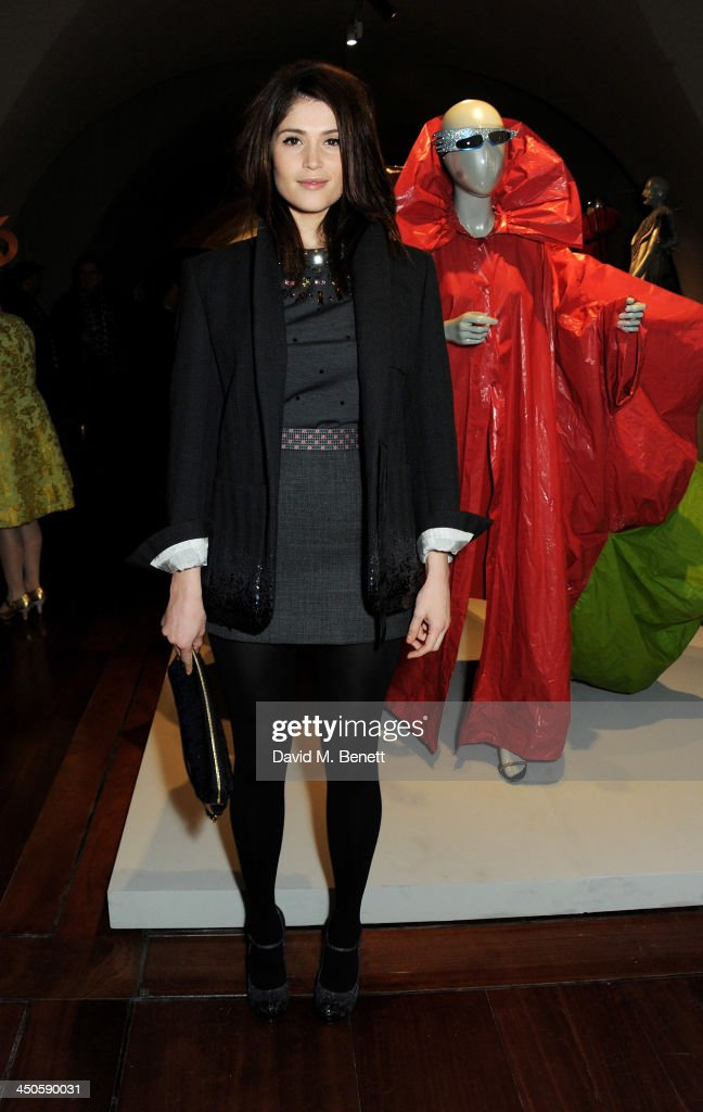 Gemma Arterton attends the private view of Isabella Blow: Fashion Galore!, a new Somerset House exhibition, at Somerset House on November 19, 2013 in London, England.