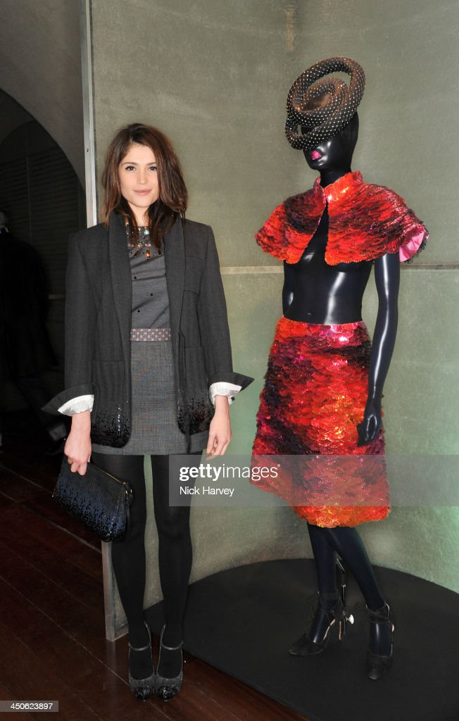 Gemma Arterton attends the private view of Isabella Blow: Fashion Galore! Party at Somerset House on November 19, 2013 in London, England.