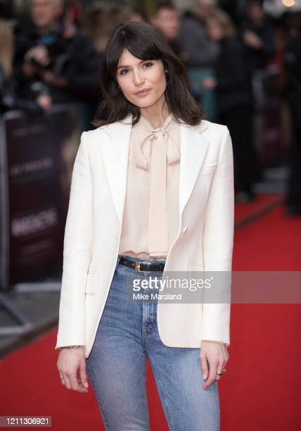 Gemma Arterton attends the Radioactive UK Premiere at The Curzon Mayfair on March 08 2020 in London England