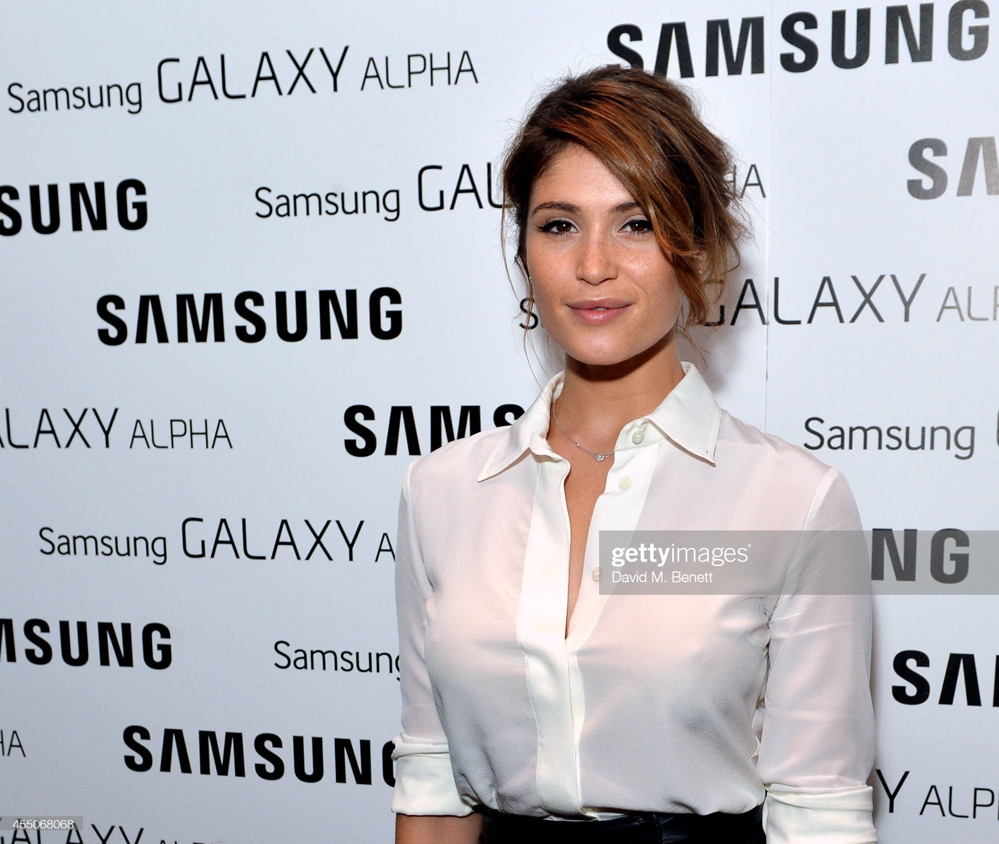 gemma-arterton-attends-the-samsung-galaxy-alpha-launch-event-at-the-picture-id455068068