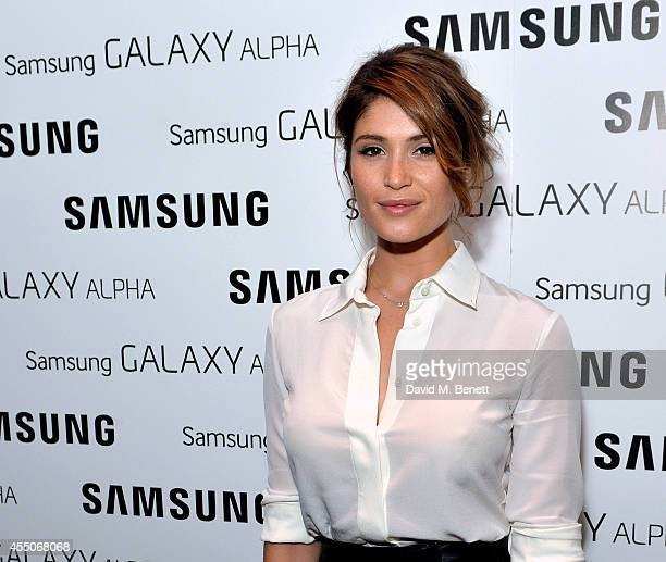 Gemma Arterton attends the Samsung Galaxy Alpha launch event at The Collection on September 9, 2014 in London, England.