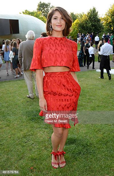 Gemma Arterton attends The Serpentine Gallery Summer Party cohosted by Brioni at The Serpentine Gallery on July 1 2014 in London England