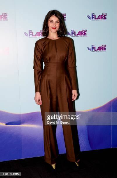 "Gemma Arterton attends the UK Premiere and Opening Night Gala screening of ""Vita & Virginia"" during the 33rd BFI FLARE Film Festival at BFI Southbank..."