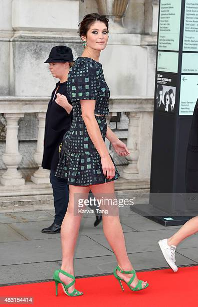 Gemma Arterton attends the UK Premiere of 'Gemma Bovery' at Somerset House on August 6 2015 in London England