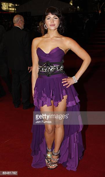 Gemma Arterton attends the world premiere of 'Quantum of Solace' at Odeon Leicester Square on October 29, 2008 in London, England.