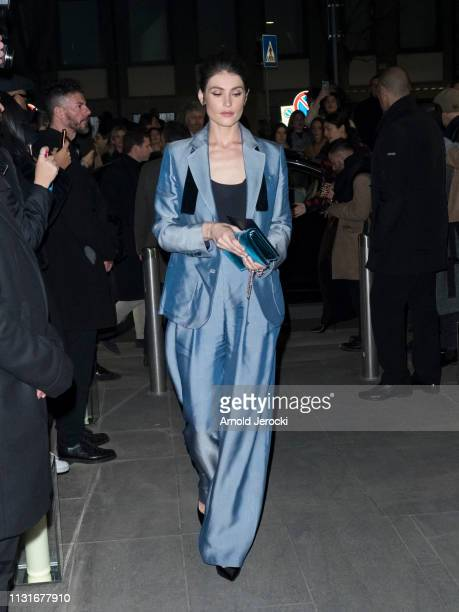 Gemma Arterton is seen at Giorgio Armani fashion show on Day 4 Milan Fashion Week Autumn/Winter 2019/20 on February 23 2019 in Milan Italy