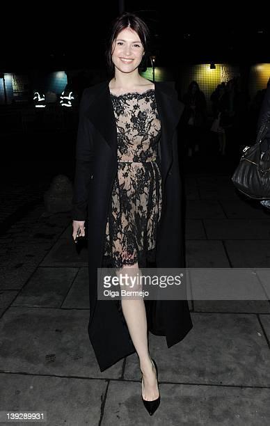 Gemma Arterton is seen at London Fashion Week Autumn/Winter 2012 on February 18 2012 in London England