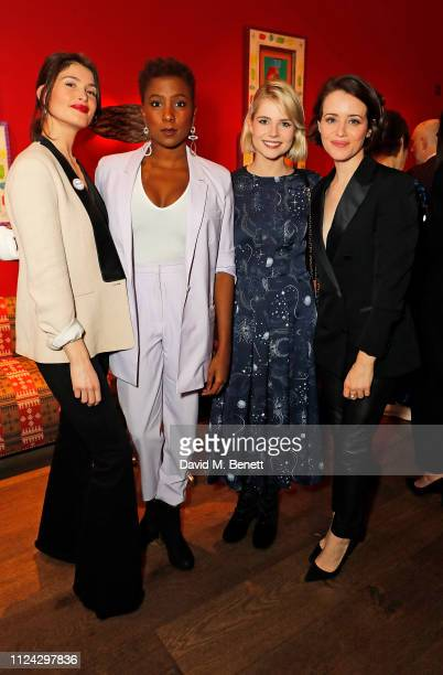 Gemma Arterton, Jade Anouka, Lucy Boynton and Claire Foy attend the inaugural Casting Awards, celebrating the significant achievements of casting in...