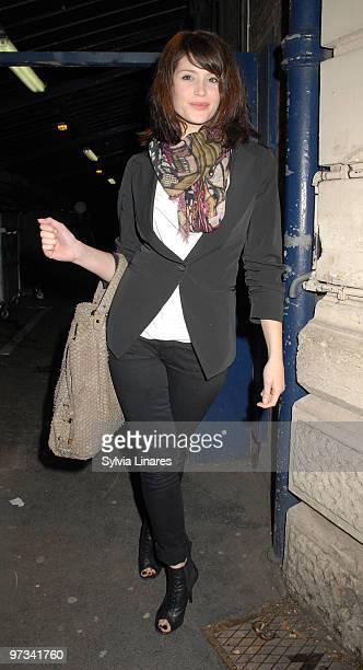 Gemma Arterton leaving the Garrick Theatre on March 1 2010 in London England