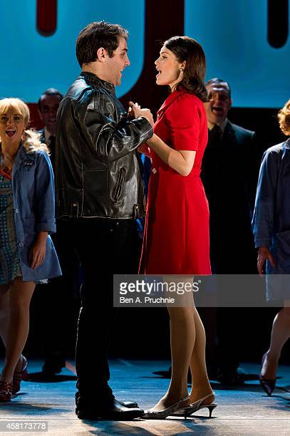 Gemma Arterton performs on stage during a photocall for Made In Dagenham at Adelphi Theatre on October 31 2014 in London England
