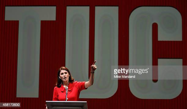 Gemma Arterton performs on stage during a photocall for 'Made In Dagenham' at Adelphi Theatre on October 31 2014 in London England
