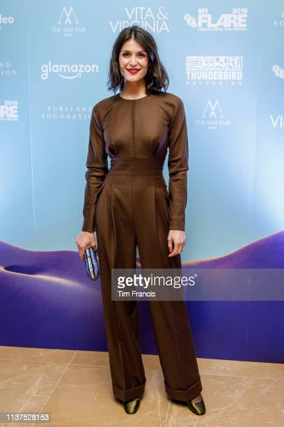 Gemma Arterton poses during the Opening Night Gala party of the 33rd BFI FLARE Film Festival at BFI Southbank on March 21, 2019 in London, England.