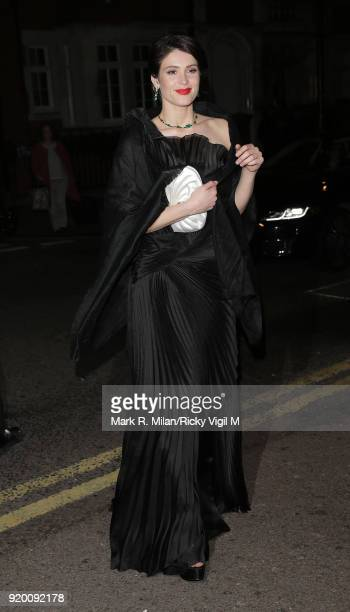 Gemma Arterton seen at BAFTAs official afterparty after attending the EE British Academy Film Awards at the Royal Albert Hall on February 18 2018 in...