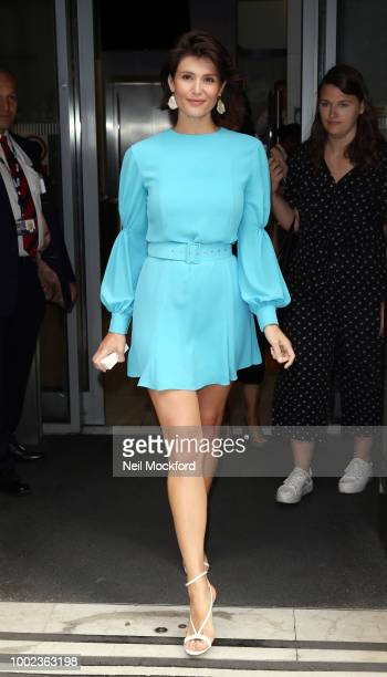 Gemma Arterton seen at BBC Radio 2 after appearing on the Chris Evan's Breakfast Show on July 20 2018 in London England