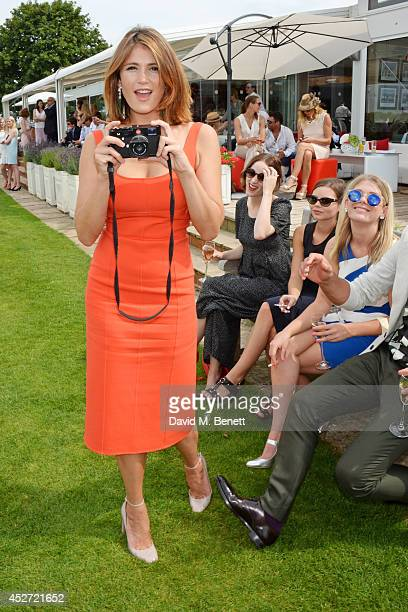 Gemma Arterton shoots pictures at Audi International at Guards Polo Club, near Windsor, to support England as it faces Argentina for the Coronation...