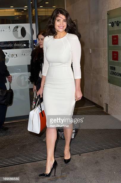 Gemma Arterton sighted departing BBC Radio Studios on May 28, 2013 in London, England.
