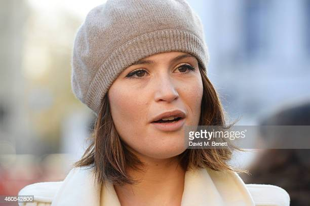 """Gemma Arterton, star of West End musical """"Made In Dagenham"""" joins Grazia Magazine and UNITE to celebrate bringing about a landmark parliamentary vote..."""