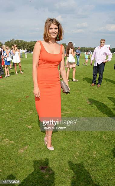 Gemma Arterton stomps the divots at Audi International at Guards Polo Club, near Windsor, to support England as it faces Argentina for the Coronation...