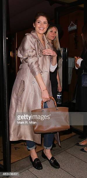 Gemma Arterton the Curzon Mayfair cinema on April 8 2014 in London England