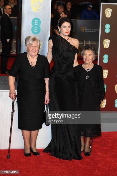 Gemma Arterton with Eileen Pullen and Gwen Davis attend the EE British Academy Film Awards held at Royal Albert Hall on February 18 2018 in London...