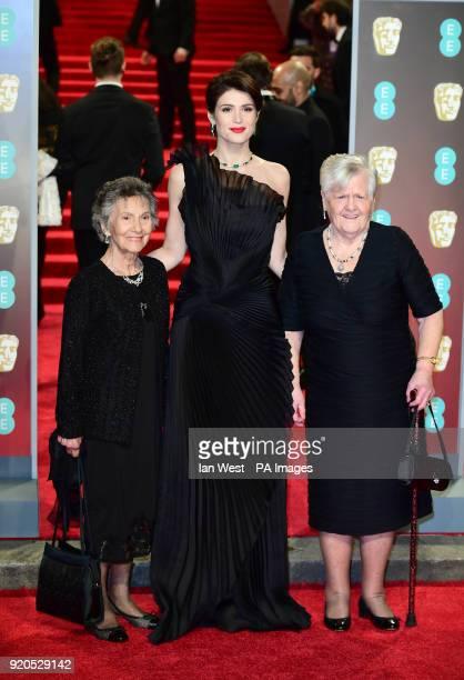 Gemma Arterton with Eileen Pullen and Gwen Davis attending the EE British Academy Film Awards held at the Royal Albert Hall Kensington Gore...