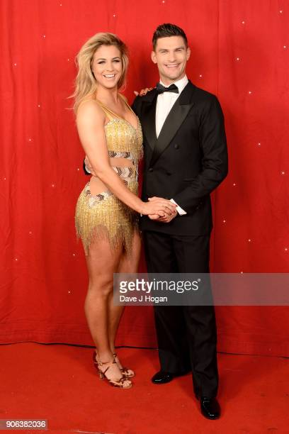 Gemma Atkinson and Alijaz Skorjanec attend the 'Strictly Come Dancing' Live photocall at Arena Birmingham on January 18 2018 in Birmingham England...