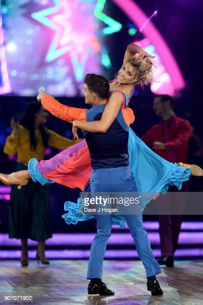 Gemma Atkinson and Alijaz Skorjanec attend the 'Strictly Come Dancing' Live dress rehearsal at Arena Birmingham on January 18 2018 in Birmingham...
