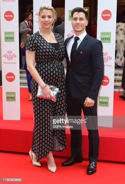 Gemma Atkinson and Gorka Marquez at The Prince's Trust TK Maxx and Homesense Celebrate Success Awards at The London Palladium.