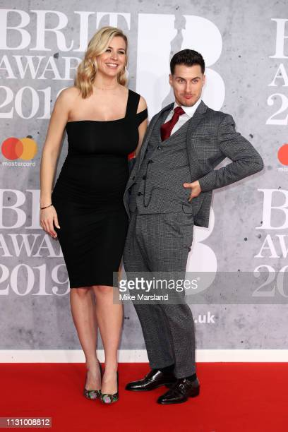 Gemma Atkinson and Gorka Marquez attends The BRIT Awards 2019 held at The O2 Arena on February 20 2019 in London England