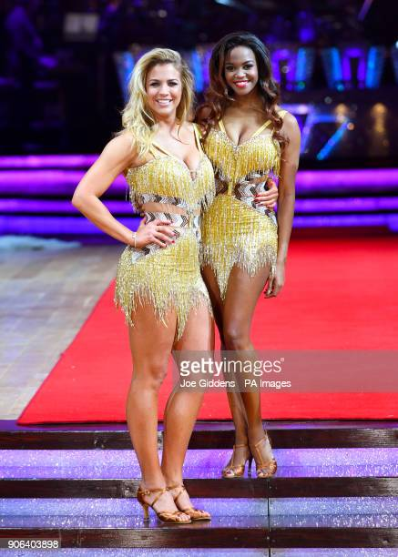 Gemma Atkinson and Oti Mabuse during the Strictly Come Dancing Live Tour Launch held at Arena BirminghamÂ