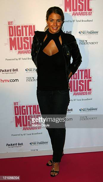 Gemma Atkinson arrives at the BT Music Awards on October 2 2007 in London