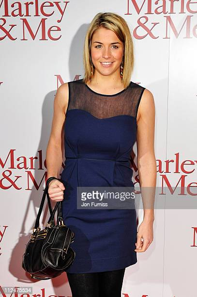 Gemma Atkinson arrives at the UK premiere of Marley Me at the Vue Leicester Square on March 2 2009 in London England