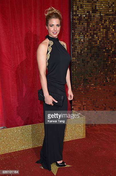 Gemma Atkinson arrives for the British Soap Awards 2016 at the Hackney Town Hall Assembly Rooms on May 28 2016 in London England