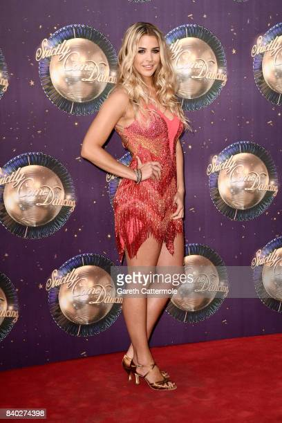 Gemma Atkinson attends the 'Strictly Come Dancing 2017' red carpet launch at The Piazza on August 28 2017 in London England