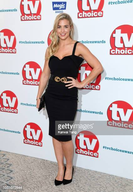 Gemma Atkinson attends the TV Choice Awards at The Dorchester on September 10 2018 in London England