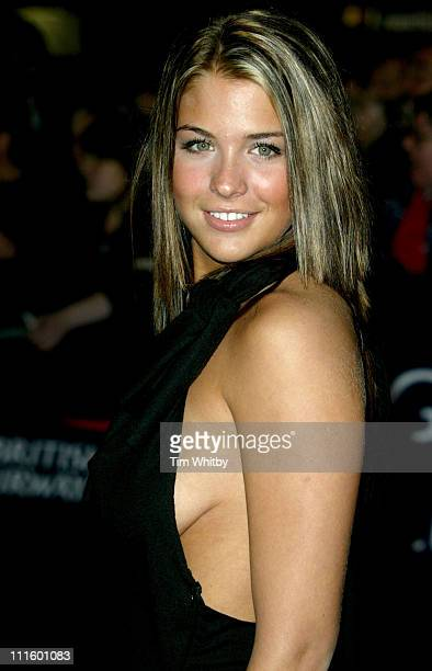 Gemma Atkinson during 2004 National Television Awards Arrivals at Royal Albert Hall in London Great Britain