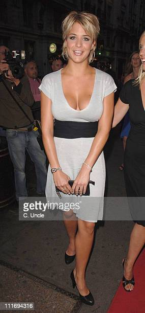 Gemma Atkinson during Loaded's Sexiest Singles Party Outside arrivals at The Play Room in London Great Britain