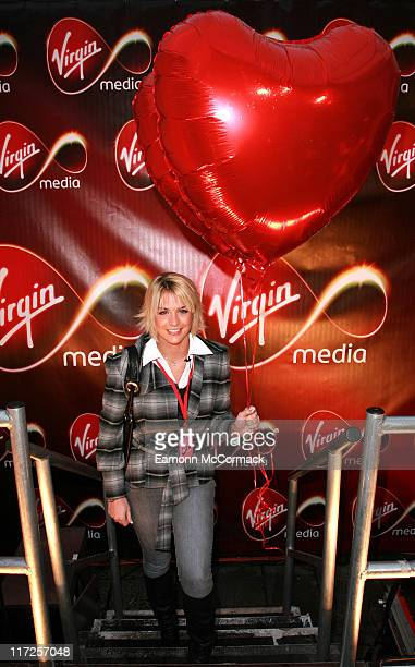 Gemma Atkinson during Virgin Media Photocall February 8 2007 at Covent Garden in London United Kingdom